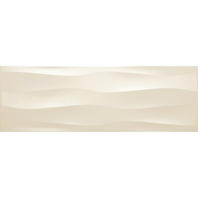Artwork 12 x 35 Ceramic Field Tile in Cream Wave