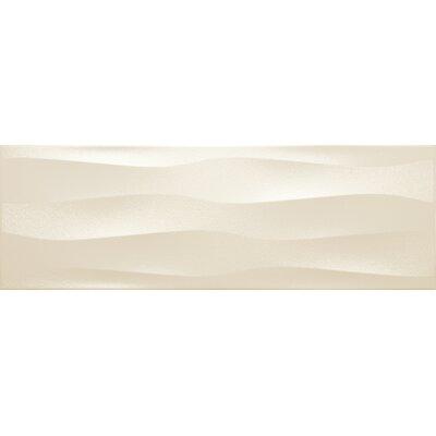 Artwork 12 x 35 Ceramic Field Tile in Cream Wave