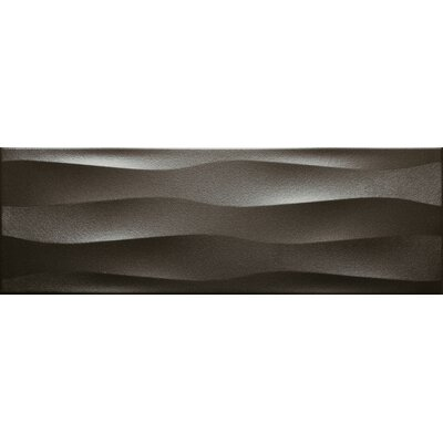 Artwork 12 x 35 Ceramic Metal Look/Field Tile in Metal Wave
