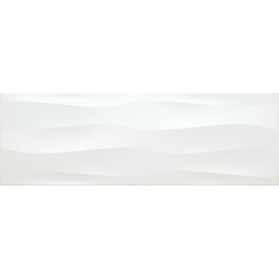 Artwork 12 x 35 Ceramic Field Tile in Pearl Wave