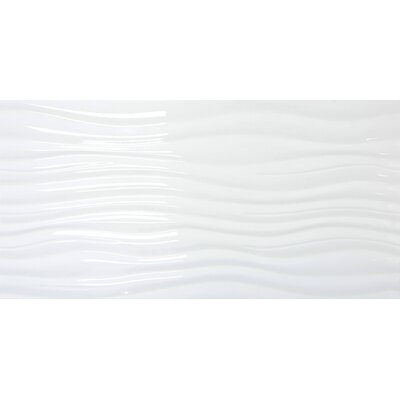 Jazz Ripple 12 x 24 Ceramic Field Tile in White