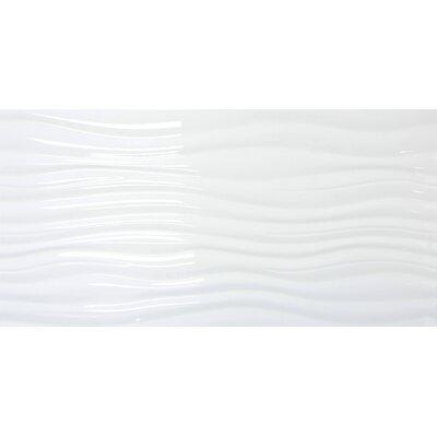 Jazz Ripple 12 x 24 Ceramic Field Tile in White