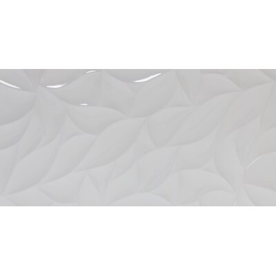 Jazz Bloom 12 x 24 Ceramic Field Tile in White