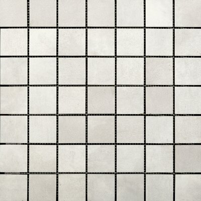 Cosmopolitan 2 x 2 Porcelain Metal Look Tile in Crystal