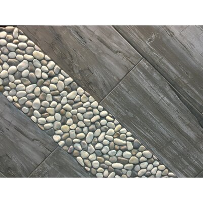 Madera 12 x 3 Porcelain Bullnose Tile Trim in Timber