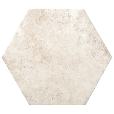 Newberry Hexagon 10 x 11 Porcelain Field Tile in Bianco