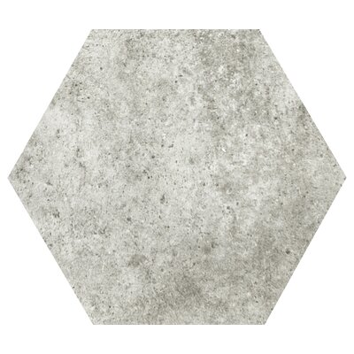 Newberry Hexagon 10 x 11 Porcelain Field Tile in Grigio