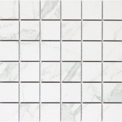 Duomo 2 x 2 Porcelain Metal Look Tile in Bianchi