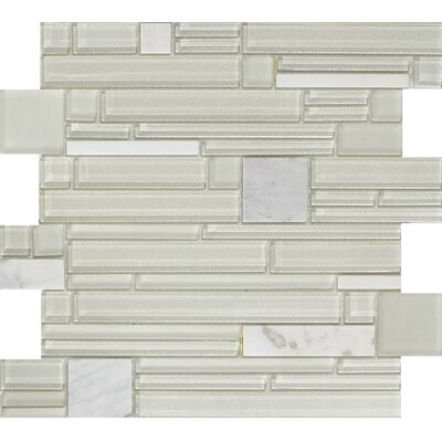 Entity Glass/Stone Mosaic Tile in Gusto