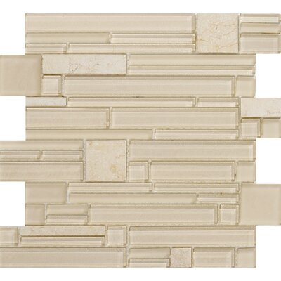 Entity Glass/Stone Mosaic Tile in Life