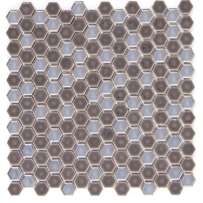 Confetti Porcelain Mosaic Tile in Pewter