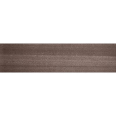 Perspective 12 x 3 Porcelain Bullnose Tile Trim in Brown