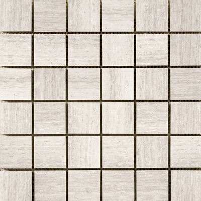Metro 2 x 2/12 x 12 Limestone Mosaic Tile in Cream