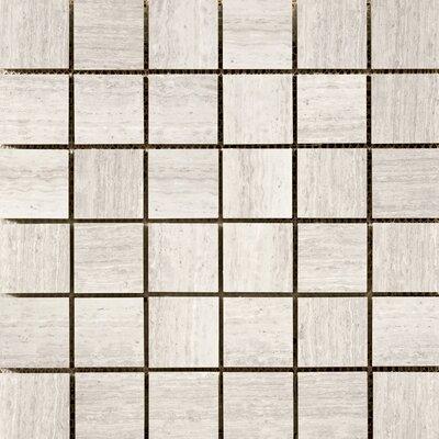 Metro 2 x 2/12 x 12 Limestone Mosaic Tile in Cream
