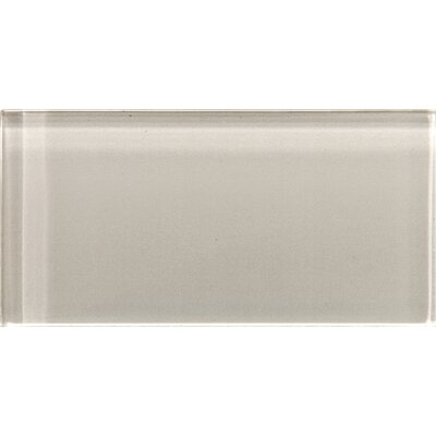 Lucente 3 x 6 Glass Subway Tile in Morning Fog