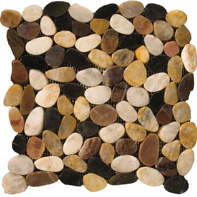 Flat Rivera Pebbles 12 x 12 Mosaic in 4-Color Blend