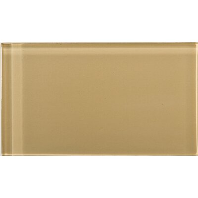 Lucente 3 x 6 Glass Subway Tile in Honey