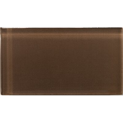 Lucente 3 x 6 Glass Subway Tile in Mulberry