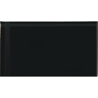Lucente 3 x 6 Glass Subway Tile in Noir