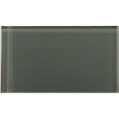 Lucente 3 x 6 Glass Subway Tile in Pewter