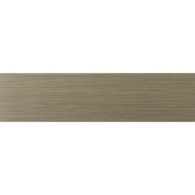 Strands 12 x 3 Horizontal Bullnose Tile Trim in Olive