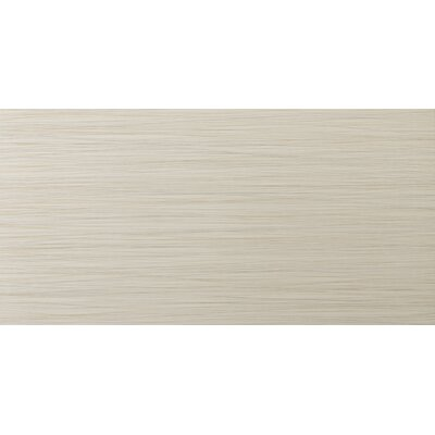 Strands 12 x 24 Porcelain Fabric Look/Field Tile in Oyster