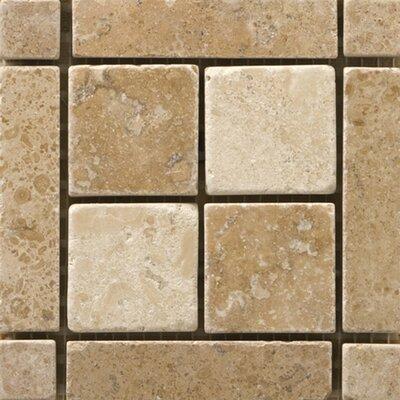 Natural Stone 4 x 4 Travertine Vino Listello Corner Tile in Cortese