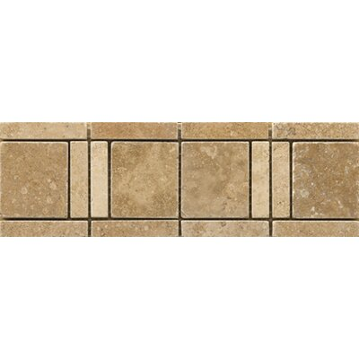 Natural Stone 4 x 12 Travertine Vino Listello Tile in Cortese