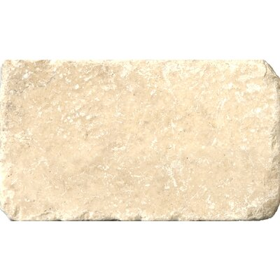 Travertine 3 x 6 Subway Tile in Tumbled Cream
