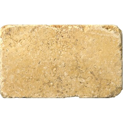 Natural Stone 3 x 6 Travertine Subway Tile in Gold
