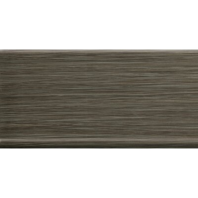 Strands 12 x 6 Horizontal Cove Base Tile Trim in Twilight