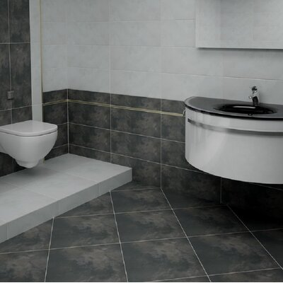 Cosmopolitan 2 x 2 Porcelain Mosaic Tile in Charcoal