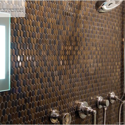 Confetti Porcelain Mosaic Tile in Bronze