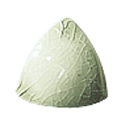 Cape Cod 1 x 1 Ceramic Beak Tile Trim in Willow Green Crackle