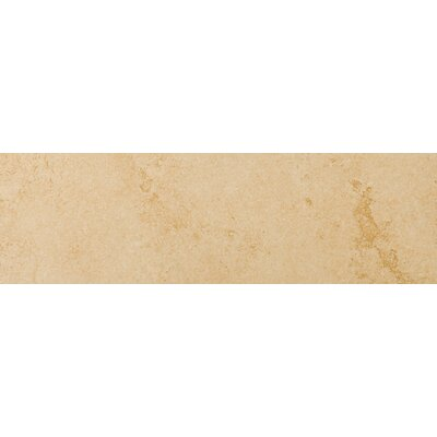 Genoa 13 x 3 Porcelain Surface Bullnose Tile Trim in Albergo (Set of 2)