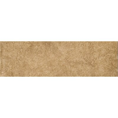 Genoa 13 x 3 Porcelain Surface Bullnose Tile Trim in Campetto
