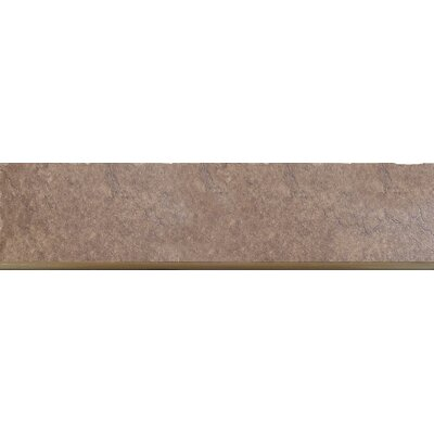 Genoa 13 x 3 Porcelain Surface Bullnose Tile Trim in Pinelli