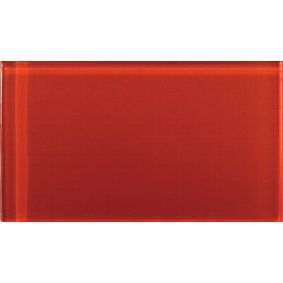 Lucente 3 x 6 Glass Subway Tile in Ruby