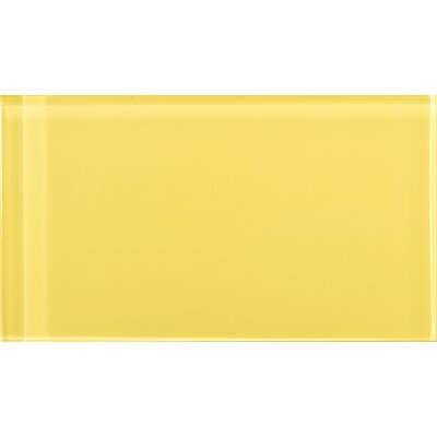 Lucente 3 x 6 Glass Subway Tile in Sunflower