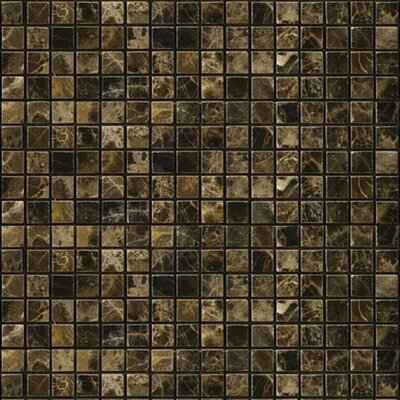 "Natural Stone 2"" x 2"" Polished Marble Mosaic in Emperador Dark"