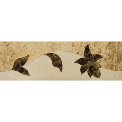 Natural Stone 4 x 12 Marble Thalia Listello Tile in Brown/Beige