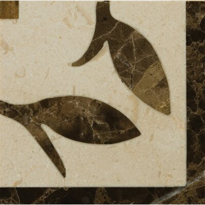 "Natural Stone 4"" x 4"" Polished Marble Melenide Listello Corner"