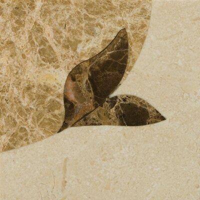 """Natural Stone 4"""" x 4"""" Honed Marble Thalia Listello Corner"""