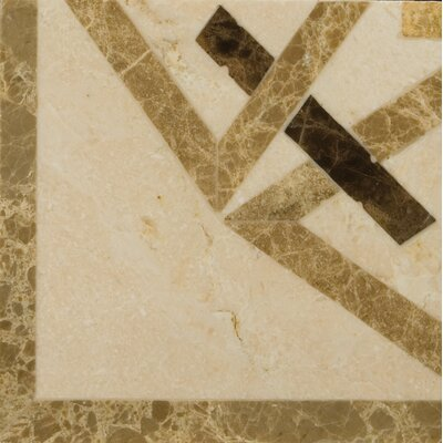 "Natural Stone 4"" x 4"" Polished Marble Pantheon Listello Corner"