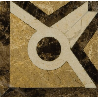 "Natural Stone 4"" x 4"" Honed Marble Vatican Listello Corner"