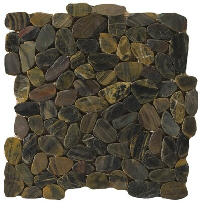 Flat Rivera Pebbles 12 x 12 Mosaic in Forest