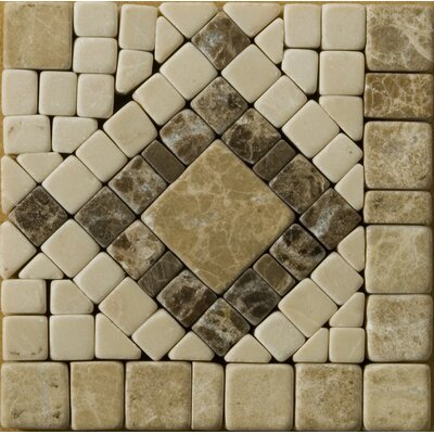 Natural Stone 4 x 4 Marble Scultura Listello Tile in Beige