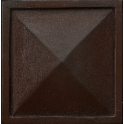Renaissance 2 x 2 Metal Capri Insert Decorative Accent Tile in Rust Iron
