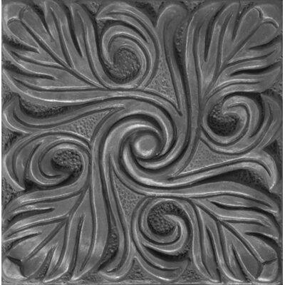 Renaissance 4 x 4 Metal Bari Accent Decorative Accent Tile in Antique Nickel