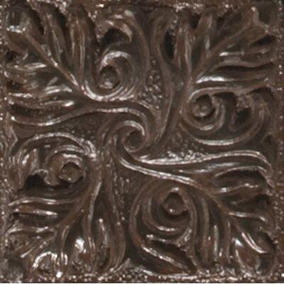 Renaissance 2 x 2 Metal Parma Insert Decorative Accent Tile in Rust Iron